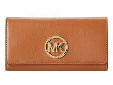 Michael Kors Fulton 35F0GFTE1L Flap CONTINENTAL Leather Wallet Acorn