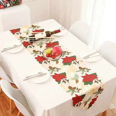 Cotton Table Cover Christmas Checkered Tablecloth Home Dining Room Decor G Ebay