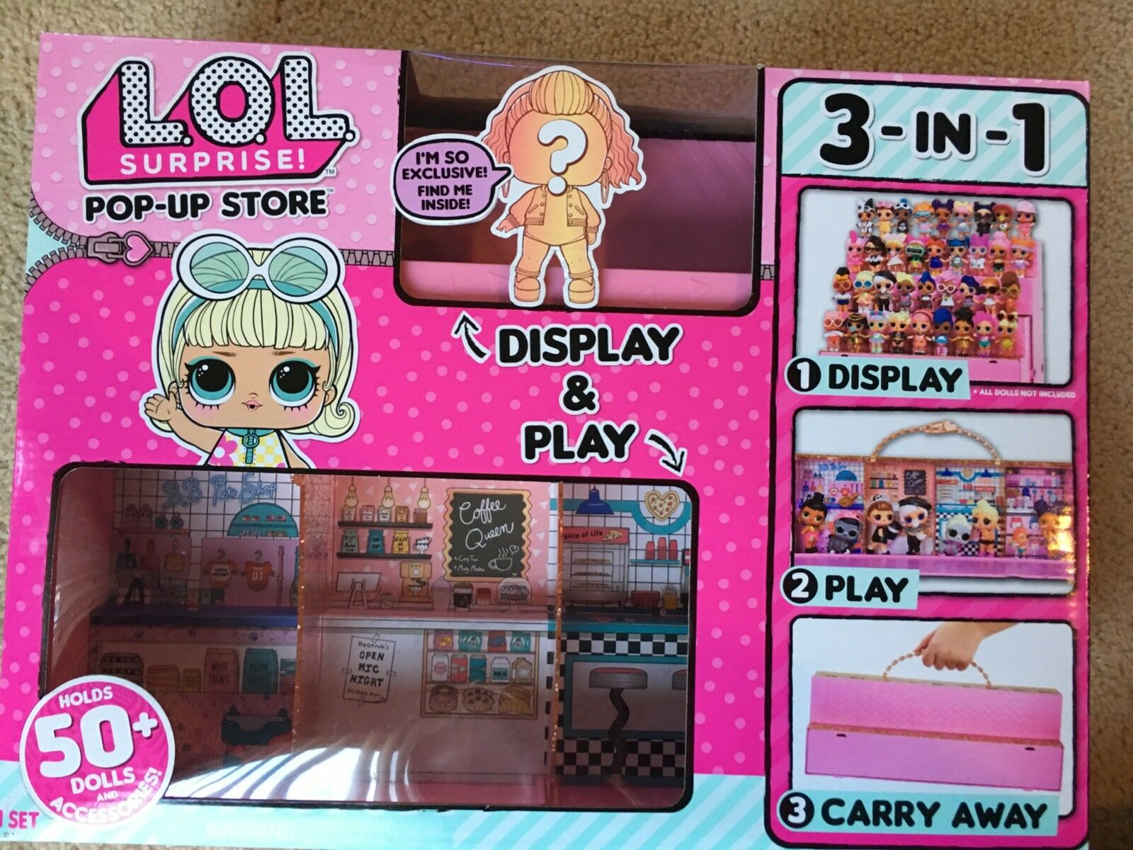 LOL Surprise Doll Pop Up Store 3 In 1 Play Set Display Case IN HAND READY 2 SHIP