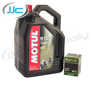 Motul-5100-Engine-Oil-amp-HiFlo-Oil-Filter-For-Yamaha-2002-FZS600-Fazer-HF147