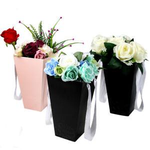 Eg-Bouquet-Fleur-Boite-Papier-Vases-Fleuriste-Etui-Seau-Mariage-Fete-Decor