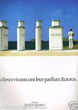 Publicité advertising 1983 Eau de Toilette pour Homme Kouros Yves Saint laurent
