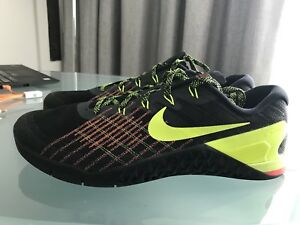 116122fe517c Image is loading Nike-Metcon-3-Black-Volt-Hyper-Crimson-Size-