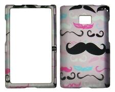 Pink Mustach  LG Optimus Logic / Dynamic L38c / L35g / L3 Case Cover