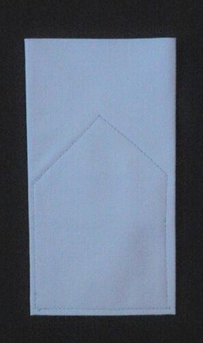 Pocket Square Kona Cotton Flat Top  Pre-folded /& Sewn ready to slip in pocket