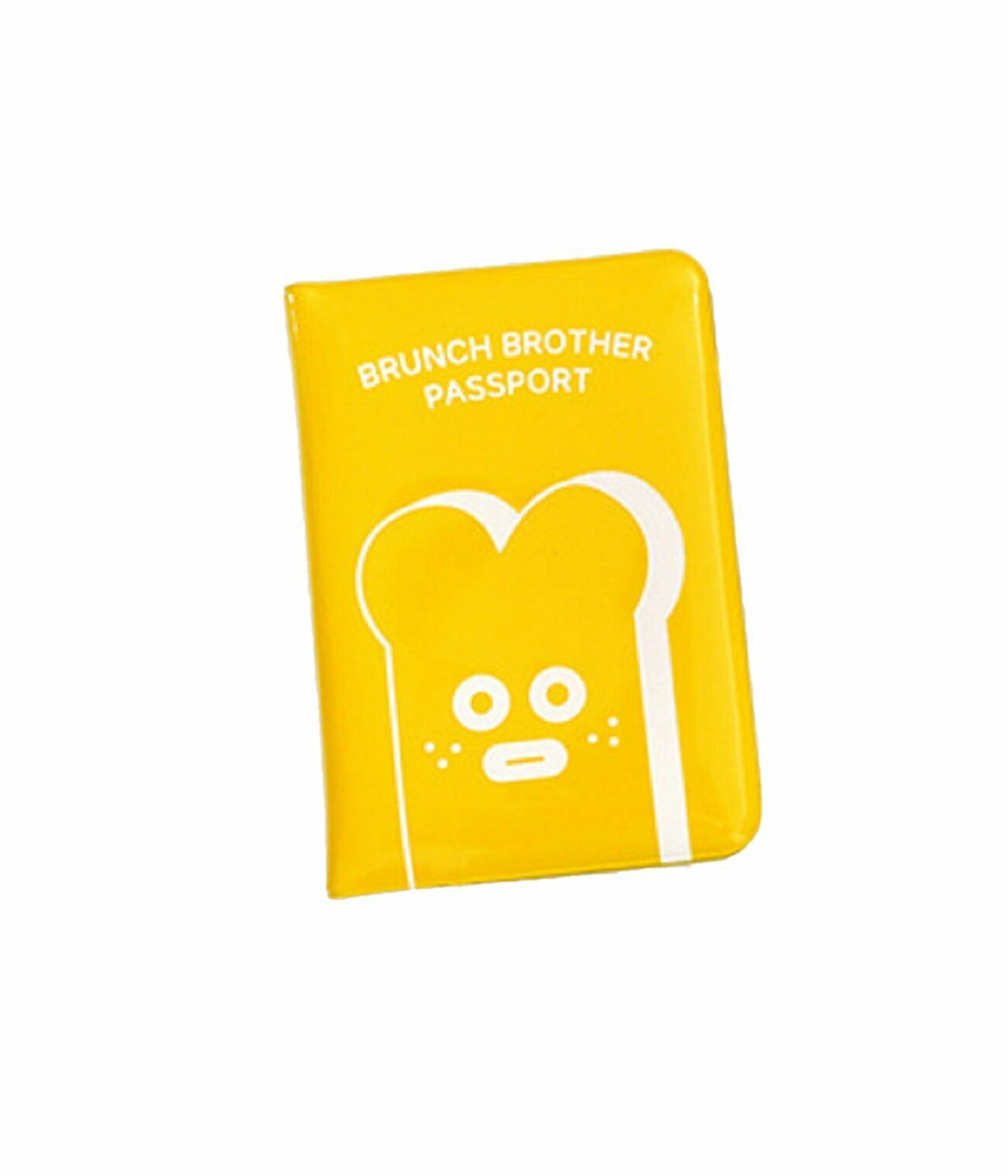 Brunch Brother Enamel Travel Passport Case Cover Holder (Toast Yellow)