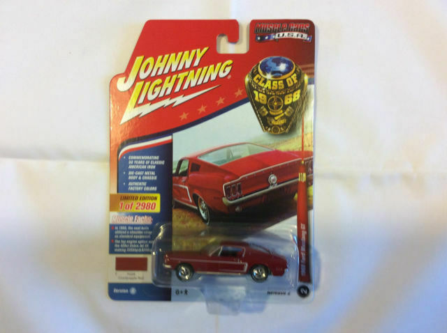 Johnny Lightning 1968 Ford Mustang GT 1:64 Candyapple Red Limited 2980 PCS