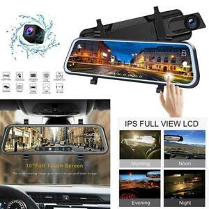 Full-HD-1080P-Mirror-Dash-Cam-Video-Recorder-Smart-Car-Front-Rear-Dual-Lens-Top