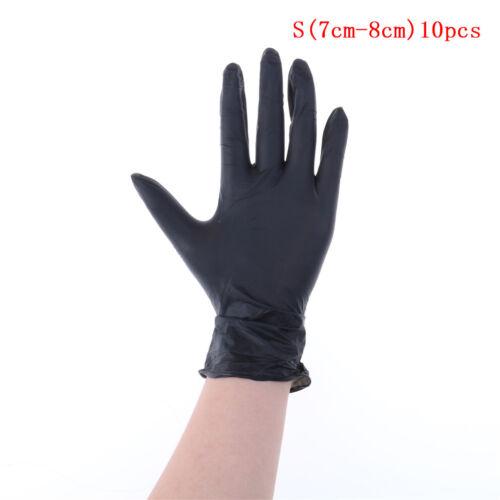 10,50,100X Black Strong Nitrile Glove  Latex Free Mechanic Tattoo Glov TPDC,s