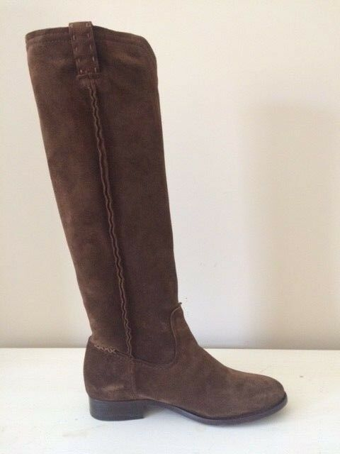 FRYE CARA TALL COLOR WOOD, SIZE 7 SUEDE RIDING EQUESTRIAN BOOTS