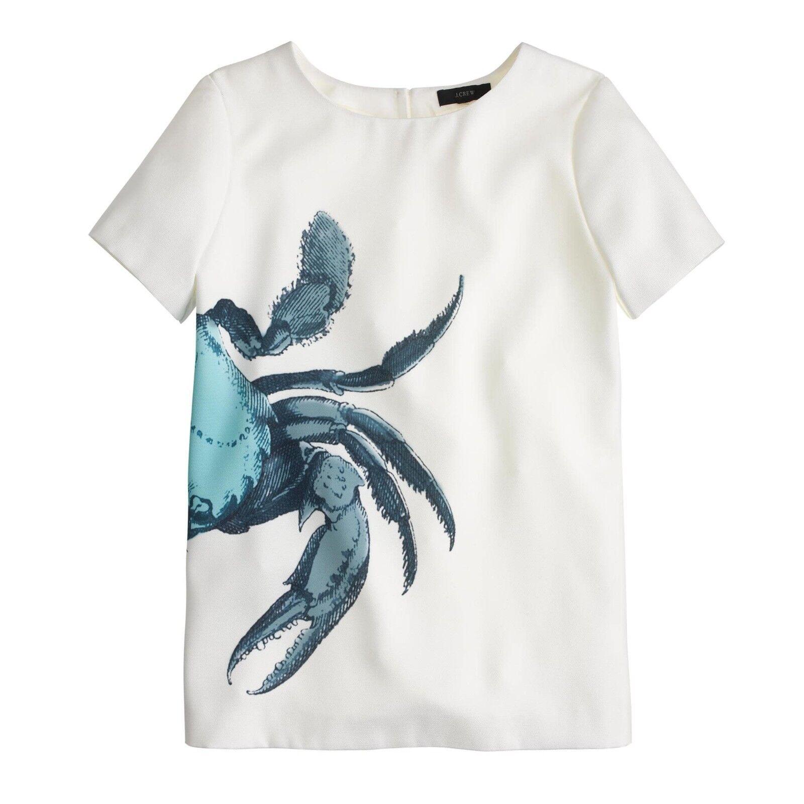 damen J.Crew Crab top blouse short sleeve shirt item A5362 Größe 10