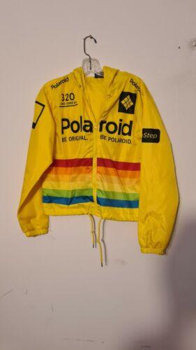 polaroid yellow nylon jacket s
