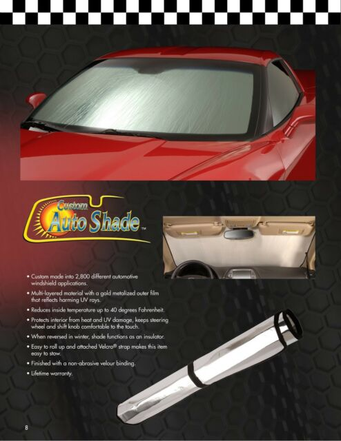 Intro-Tech Silver Custom Car Sunshade Windshield For Ford 1998-2011 Crown