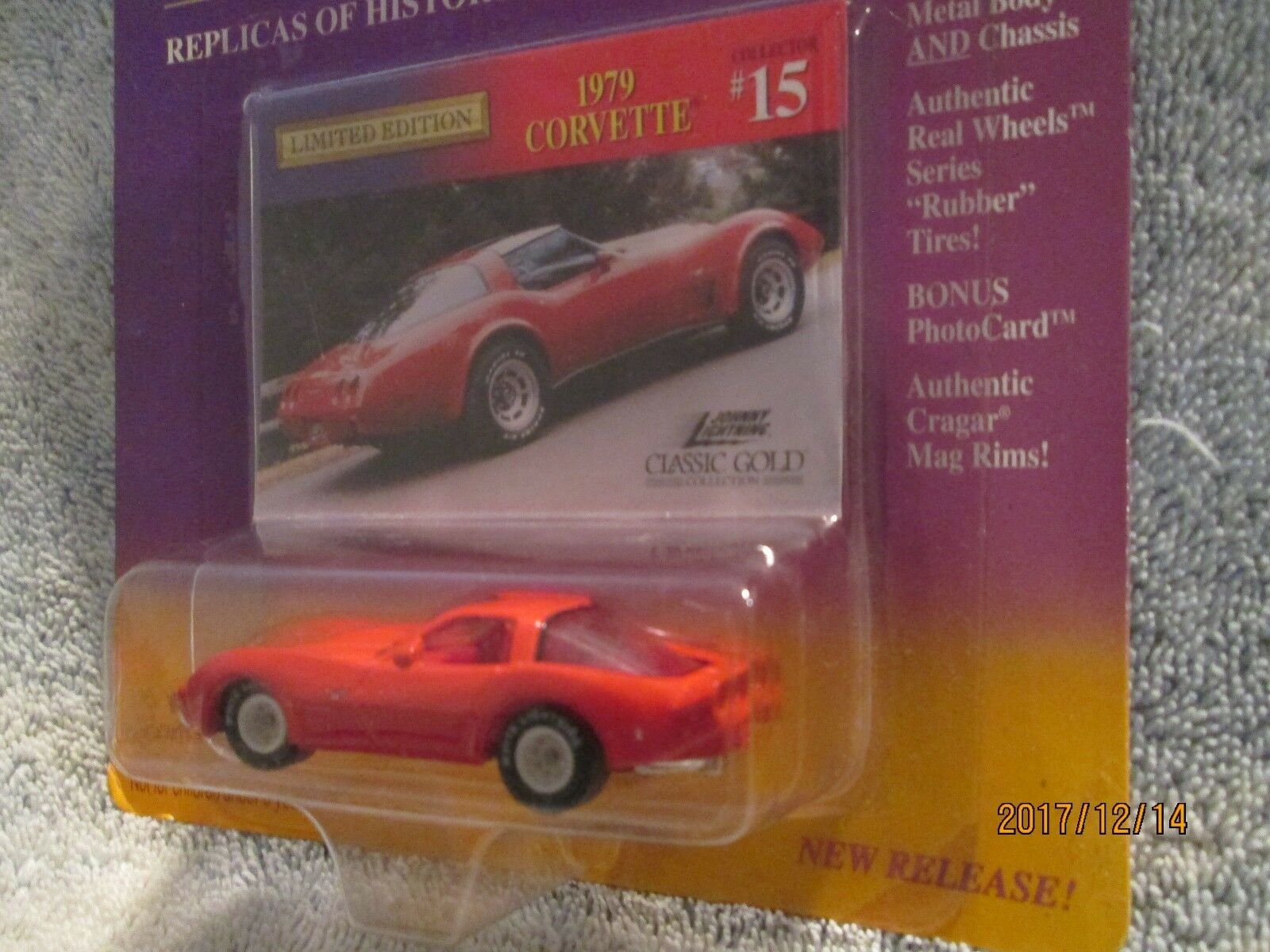 1979 Corvette Rojo Clásico oro  15 2004 1 64 Jl Johnny blanco Lightning Neumáticos