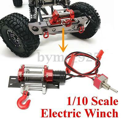 Mini Metal Steel Wired Racing 1/10 Scale Electric Winch For RC Crawlers Car