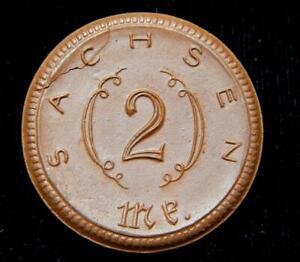 Germany 1921 2 Mark Saxony (Sachsen)-Porcelain Notgeld-Upton 6-9  Very Ch Unc