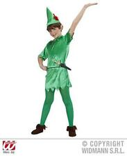 Childrens Peter Pan Fancy Dress Costume Never Land Fairy Tale Outfit 140Cm
