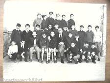Vecchia foto bn di scolaresca SALERNO scuola media 1^ C alunni con professore