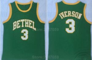 ALLEN IVERSON BETHEL HIGH SCHOOL JERSEY Green   NEW ANY SIZE