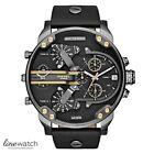 DIESEL Mr Daddy Mens Black Leather Multifunctional Watch DZ7348