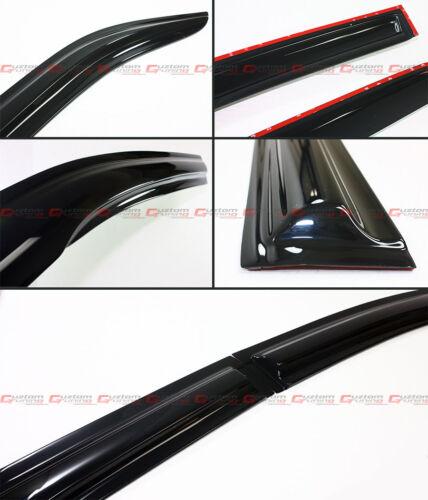 FOR 2012-2014 TOYOTA CAMRY JDM WAVY 3D WAVY DOOR WINDOW VISOR VENT RAIN GUARD