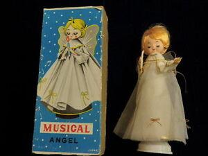 Vtg-Christmas-Rotating-Revolving-Musical-ANGEL-Silent-Night-JAPAN-In-Box-A99