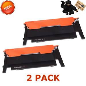 2 PACK NEW CLT-K406S Black Toner for Samsung K406S CLP-365W Xpress C410W C460FW