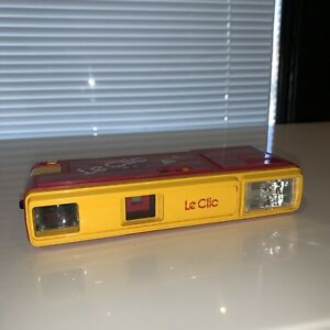 Vintage 1980s Yellow Le Clic Pocket Camera 110 Film As-Is Parts