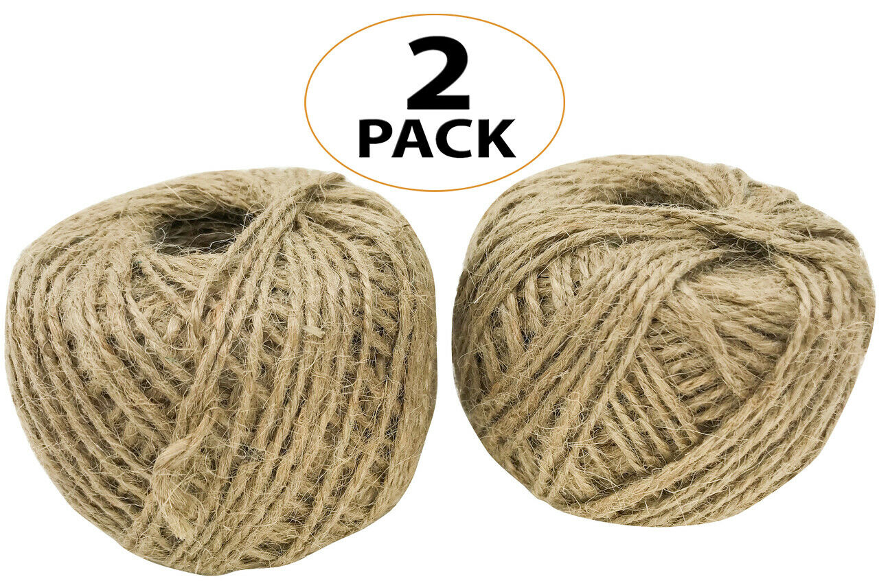 6Pc Jute Twine Rope 350ft Natural 2Ply Twisted String Bird Parrot Toy Craft Part