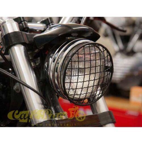Girglia Schwarz Stahl Scheinwerfer Motorrad 140MM 5-3//4 Scrambler Caferacer