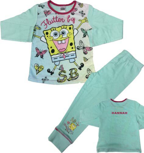 Spongebob Girls Pyjamas Spongebob Squarepant Pjs Sleepwear Can Be Personalised
