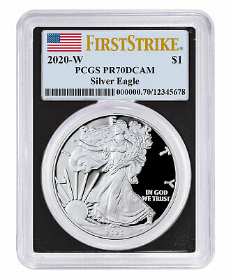 2020 W 1oz PF Silver American Eagle PCGS PR70 DCAM FS Blk Frame PRESALE SKU59795