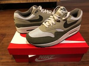 Details about Nike Air Max 1 Size 9 UK, Euro 44 Medium Olive Trainers NEW  AH8145-201 BOXED