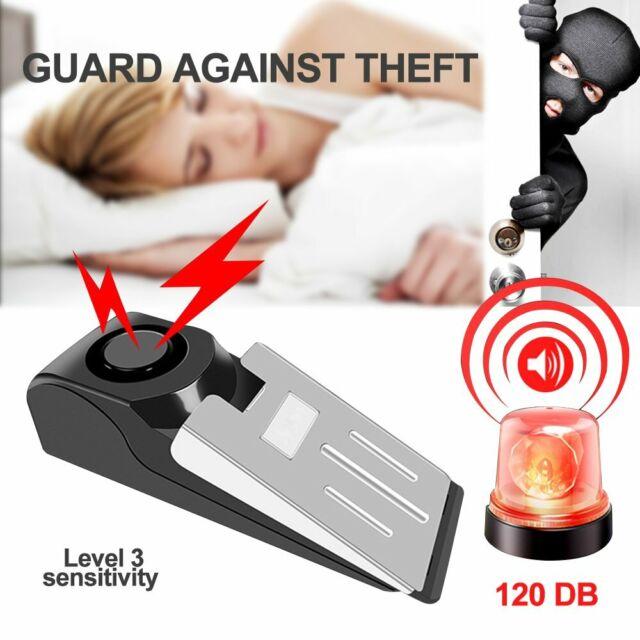 Home Security Wedge Door Stop Alarm System Device Intruder ...