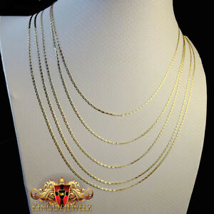 7219836f272f3 Details about REAL 10K YELLOW WHITE ROSE GOLD VALENTINO TRI COLOR NECKLACE  CHAIN 16-24