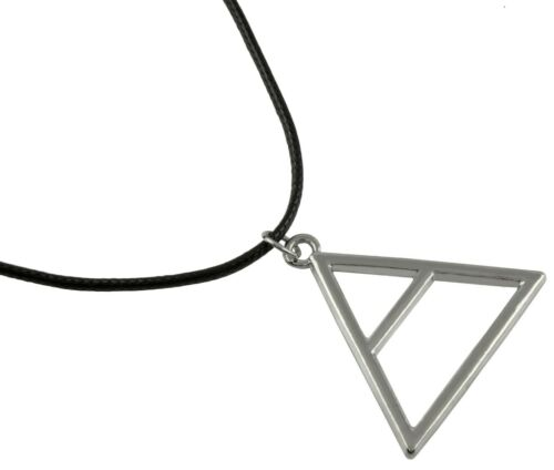 Halskette 30 Seconds to Mars silber Jared Leto Anhänger Dreieck Triade Dreiklang