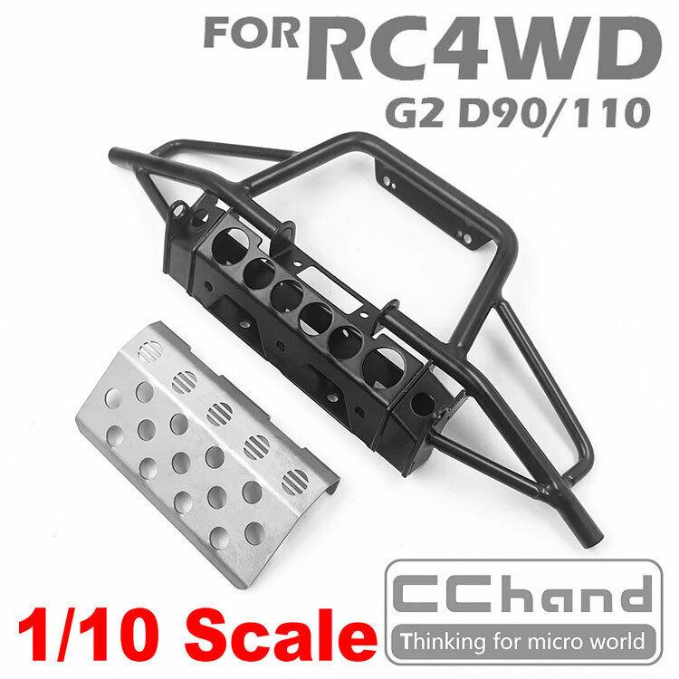 Tubo de metal de mano CC Parachoques delantero Para RC4WD G2 D90 D110