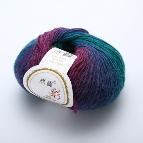 50-Gramm Sockenwolle Wolle Garn Handstrickgarn Schulgarn zum Häkeln Stricken
