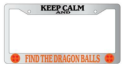 Chrome Plastic License Plate Frame Hands Off My Dragonballs