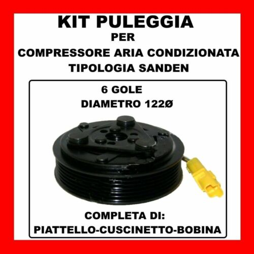 KIT PULEGGIA COMPRESSORE AC 13111 PEUGEOT 307-406-607-RANCH 1.9 D//TD-2.0-2.2 HDI