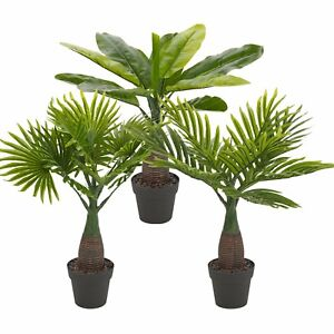 Artificial Palm Tree Plant Pot Home Office Exotic