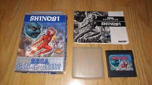 Rechercher Des Vols Shinobi - Sega Game Gear - Cib - Pal - Completo