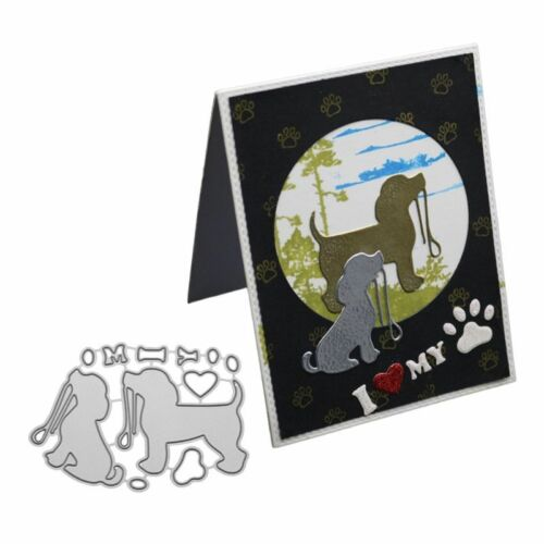 Cute Dog Cutting Dies Stencil DIY Scrapbooking Album Embossing Paper Card Craft