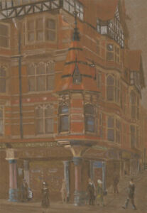 Attrib-Richard-Jeffery-Salter-20th-Century-Pastel-King-St-Nottingham