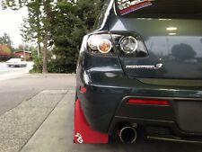 Mazda3 Speed3 Rally Mud Flaps by RokBlokz '04-'09  RED MATERIAL, Mazda 3