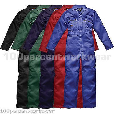 Dickies Work Wear Coverall Overalls Boiler Suit Redhawk Zip Front Mechanics Mens