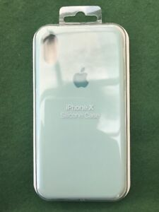 the best attitude 68c99 d4f5d Details about iPhone X & XS Silicone Case Fits Both Models - Marine Green,  Apple Genuine Cover