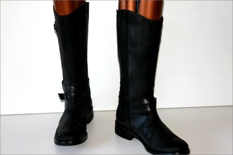 Reqins mid botas leather lined negro leather Talla 38 tbe