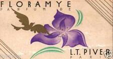 "▬► Carte parfumée ancienne ""Floramye""  , calendrier PIVER 1932"