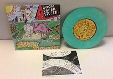 """Rock Paper Stupid. - Suck Creek 7"""" Mint #7/16 Dillinger Four Crimpshrine"""